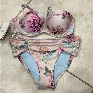 NWT Milea SeaFolly Floral Underwire Bikini Set 6